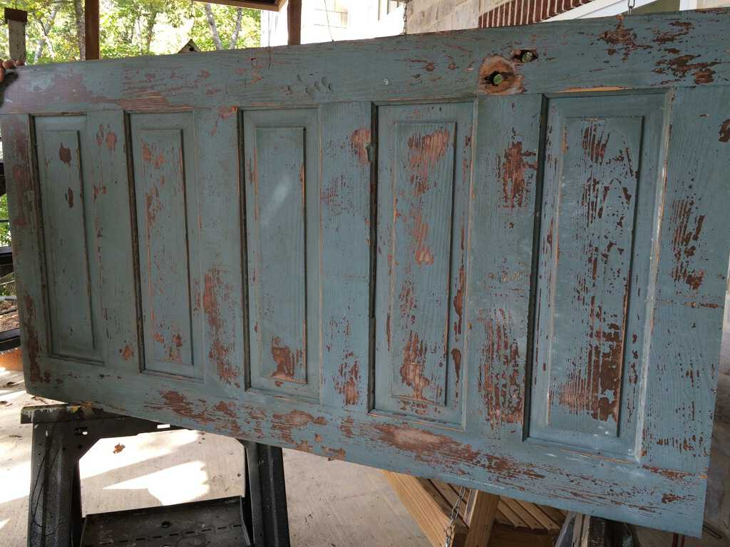 Making A Headboard From An Old Door