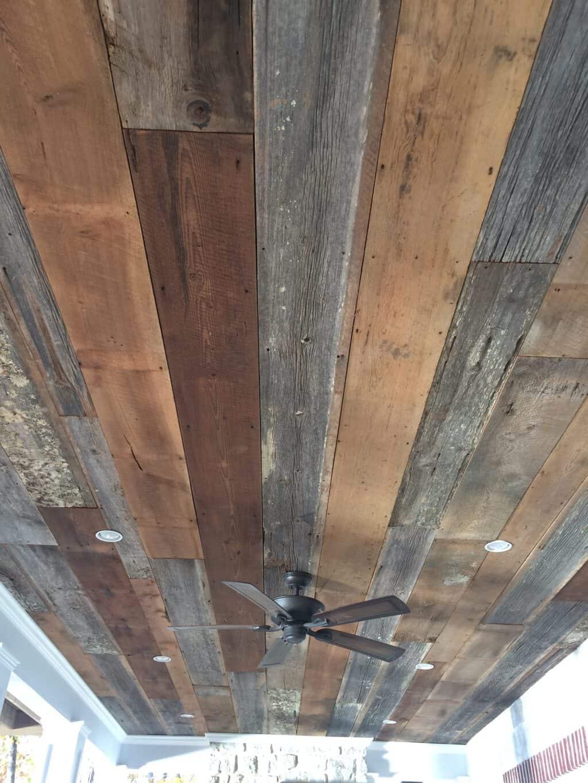 Installing Barn Wood Porch Ceiling