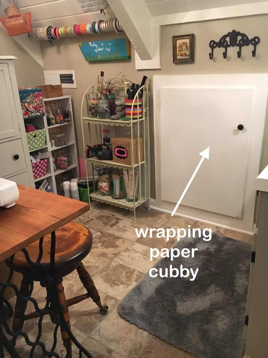 Gift Wrapping Cubby
