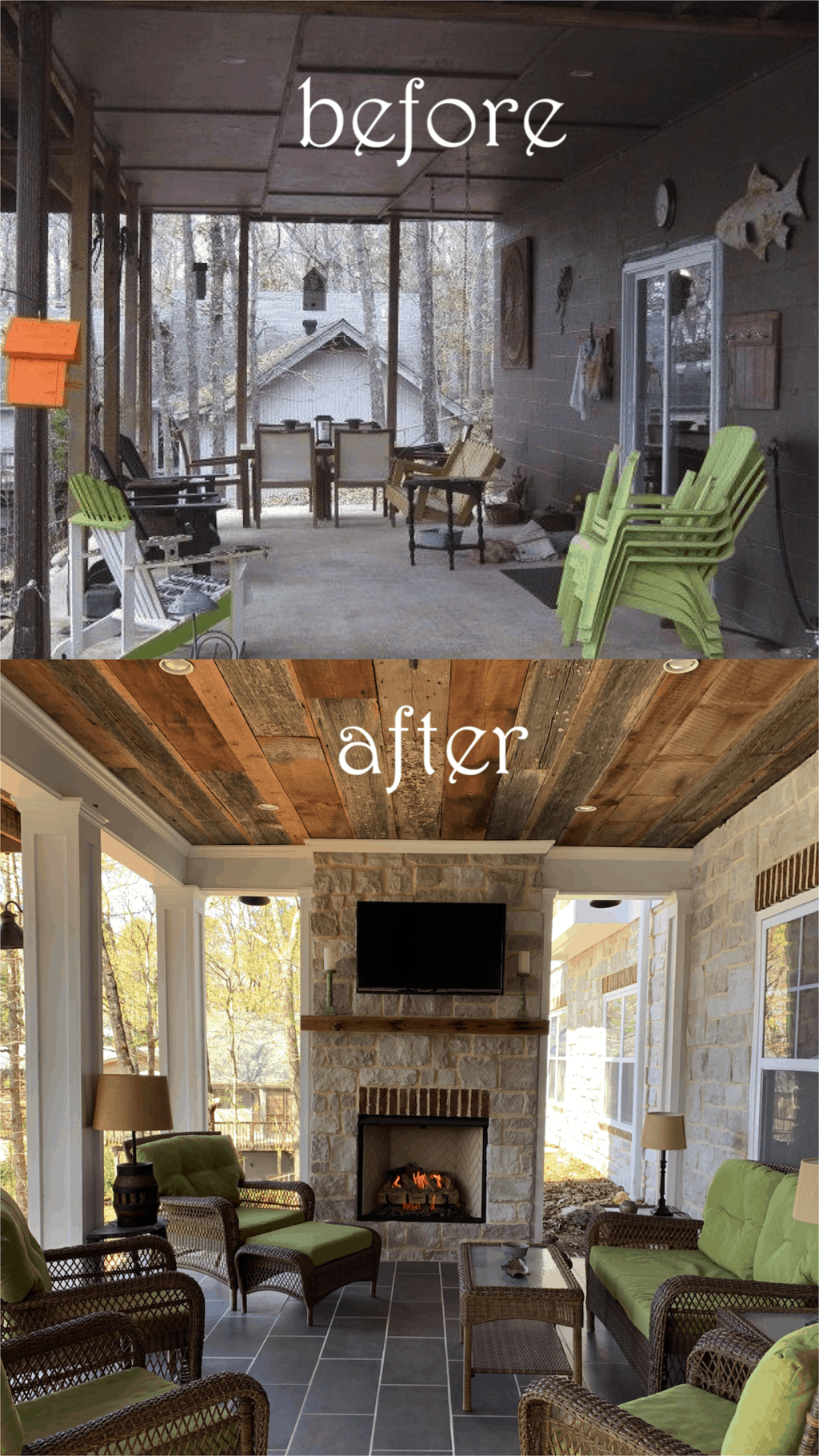How We Transformed Our Porch (Total Porch Renovation)