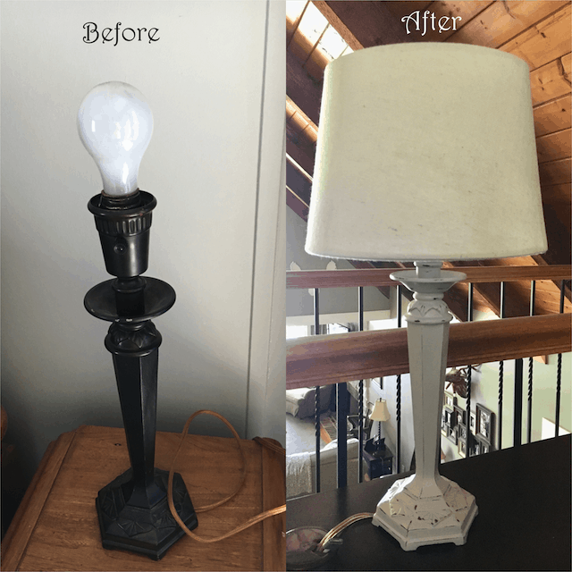 How to Chalk Paint a Lamp