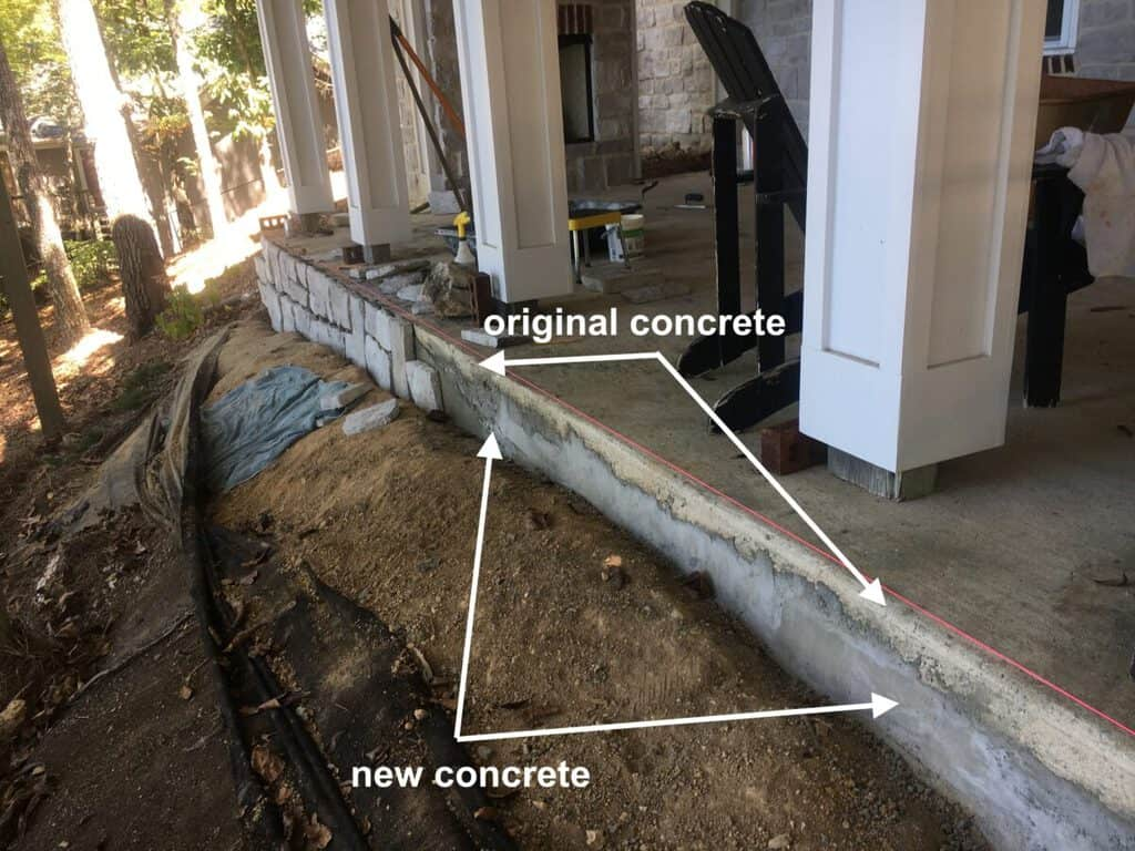 How We Shored Up Our Porch Foundation