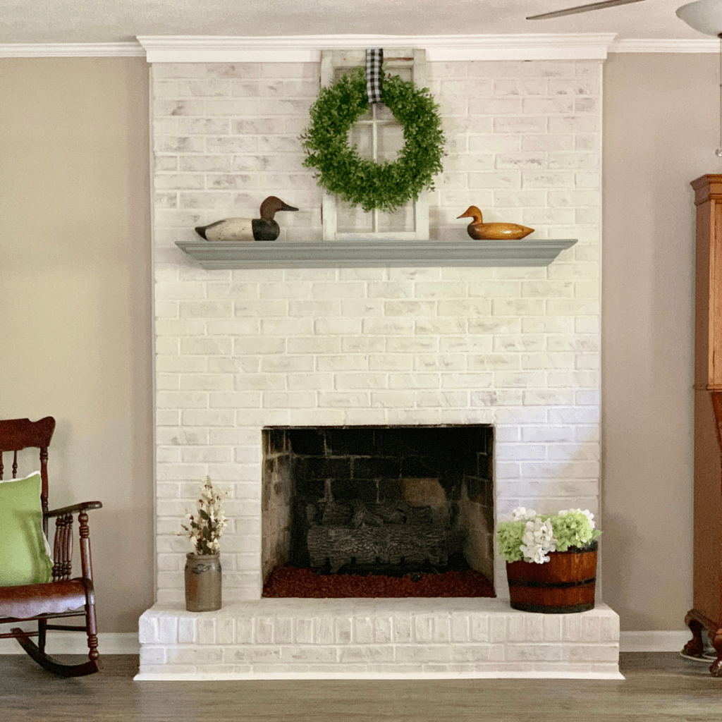 How to Mortar Wash (German Schmear) a Brick Fireplace