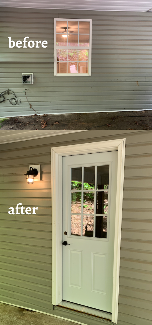 How We Replaced a Window with an Exterior Door
