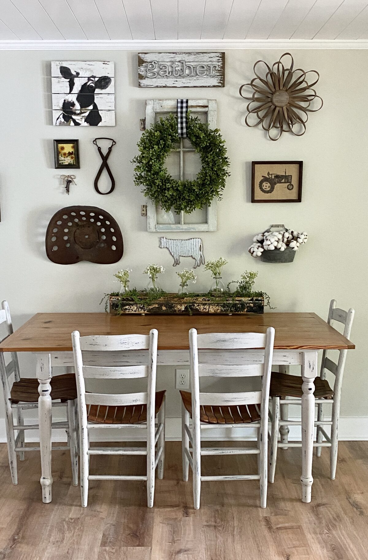 How to Create a Gallery Wall Over a Table