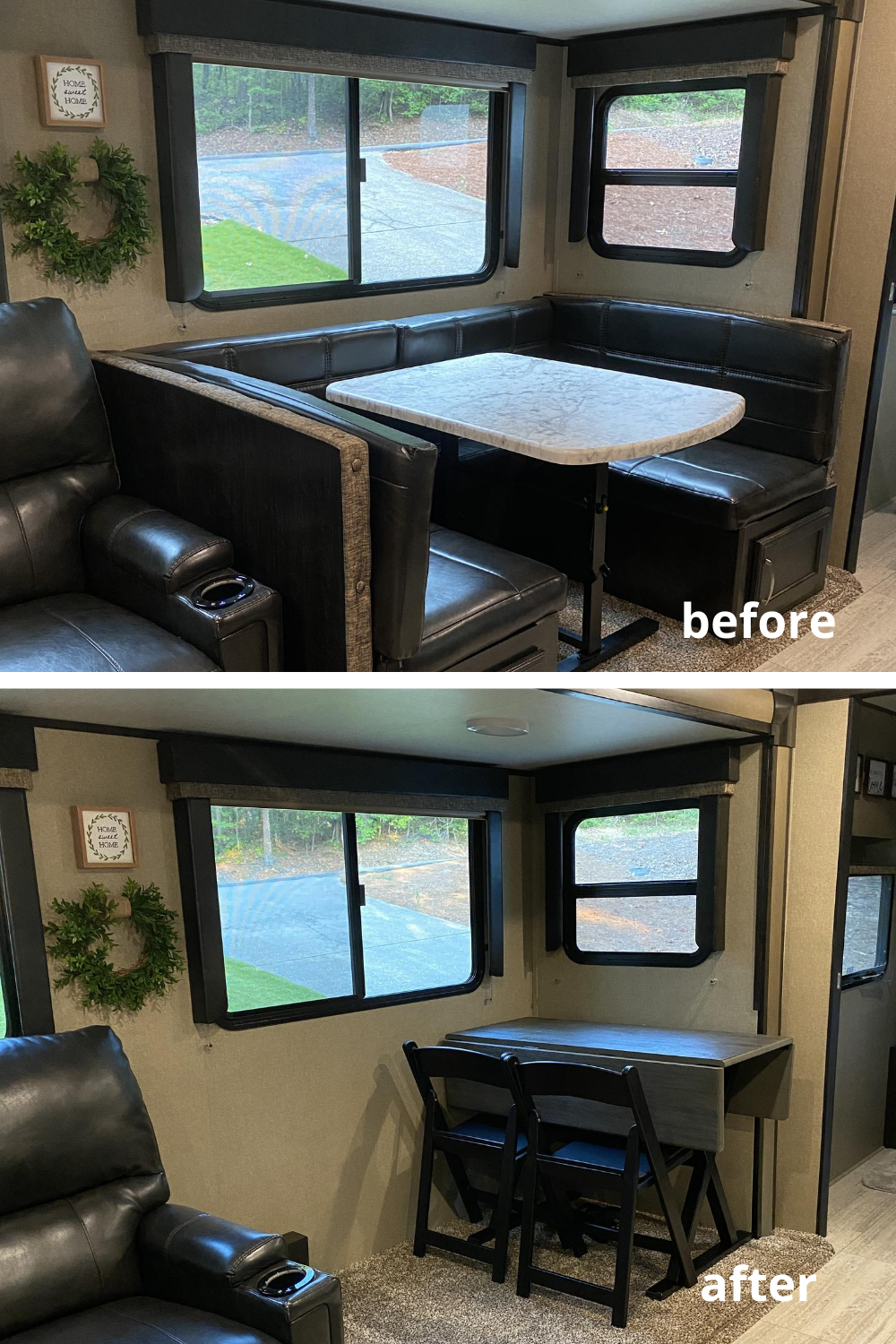 Removing our RV Dinette and Replacing with a Table and Chairs