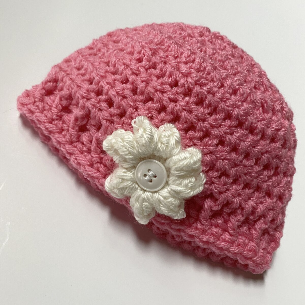 How to Crochet a Baby Beanie with a Flower