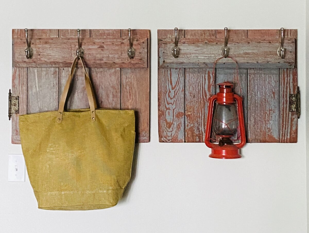 Using an Old Door to Make Wall Hooks