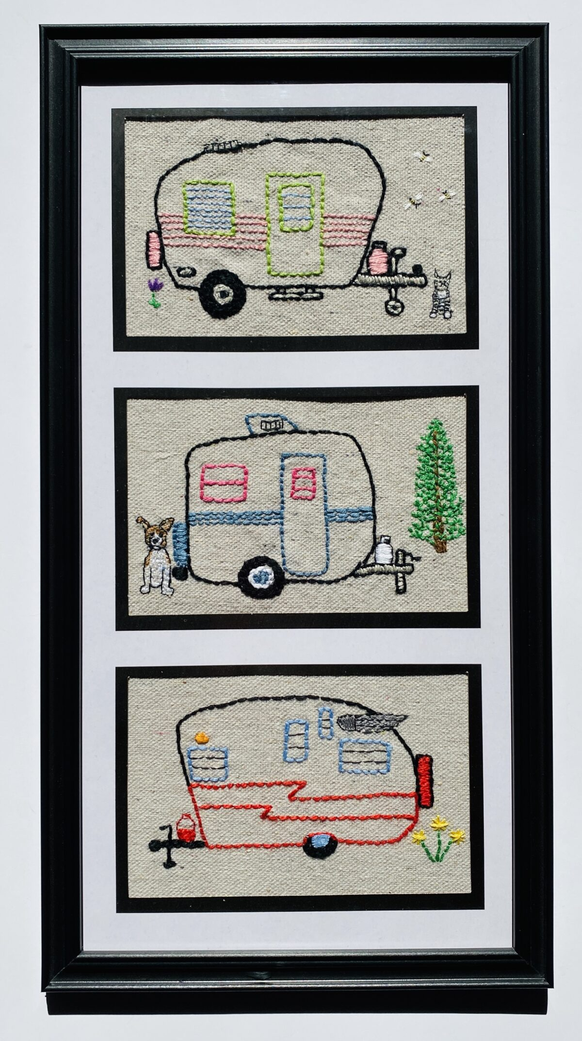 Camper Embroidery Inspiration and Design