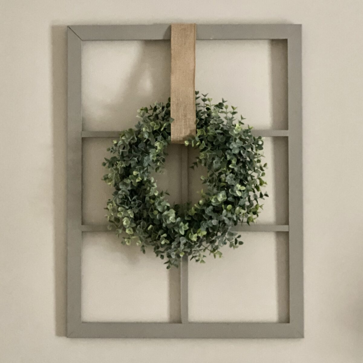 Updating Old Windows with Paint and Wreaths