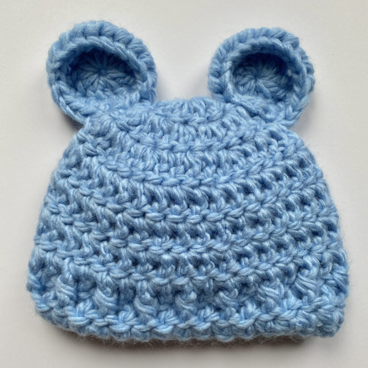 How to Crochet a Baby Beanie with Bear Ears